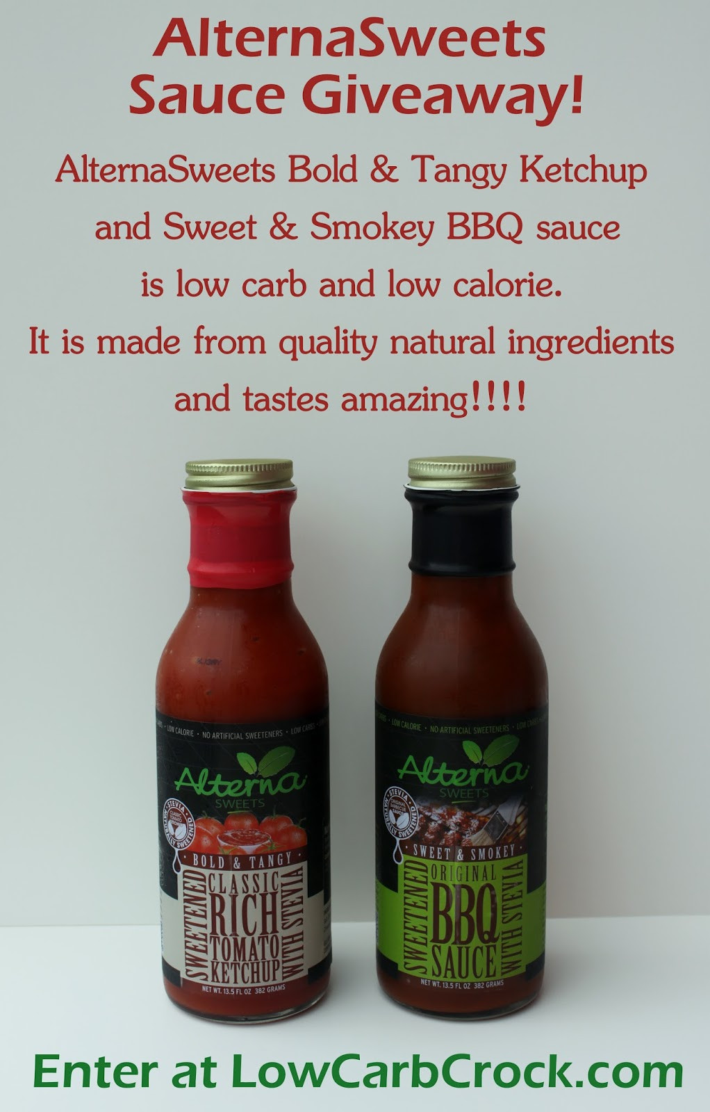 Best Low Carb Bbq Sauce  Enter My AlternaSweets Giveaway Low Carb Ketchup and