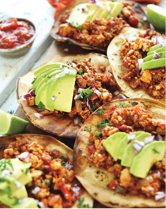 Best Vegetarian Mexican Recipes  Tofu Tostadas and Spicy on Pinterest