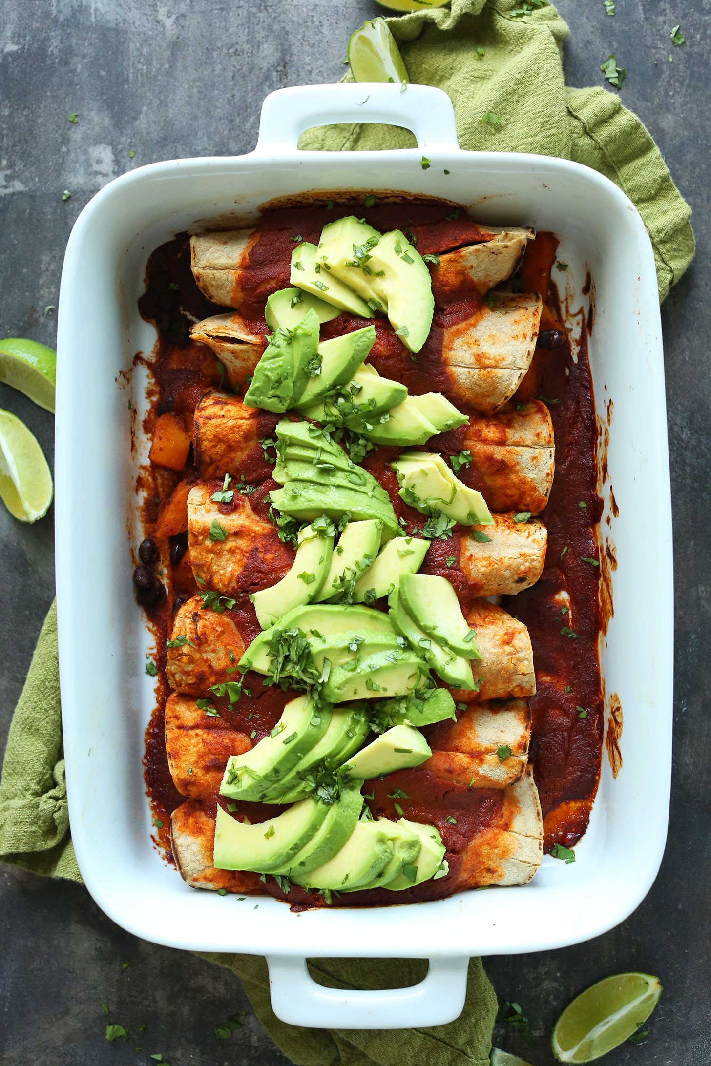Black Vegan Recipes  Butternut Squash Black Bean Enchiladas