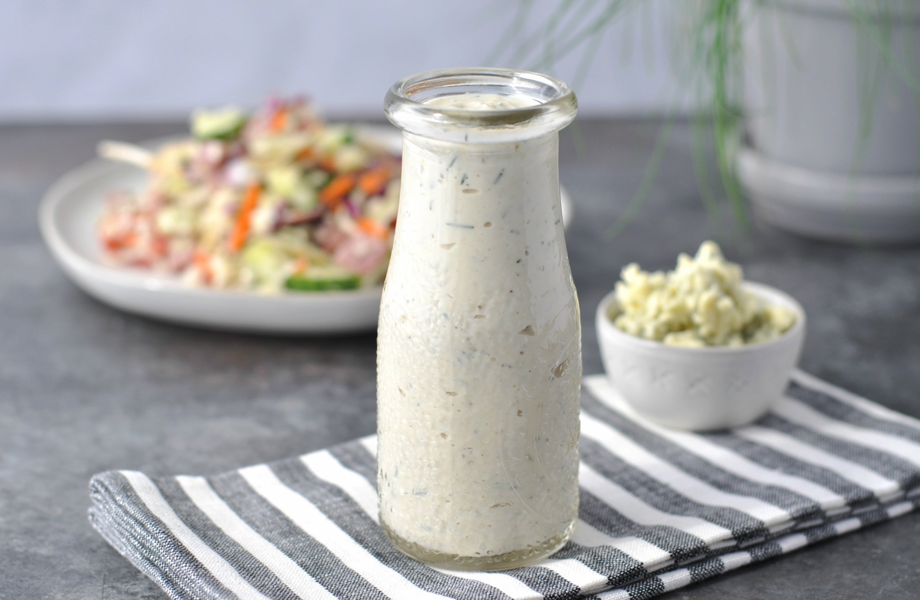 Blue Cheese Dressing Keto Diet  Creamy Chive Keto Blue Cheese Dressing