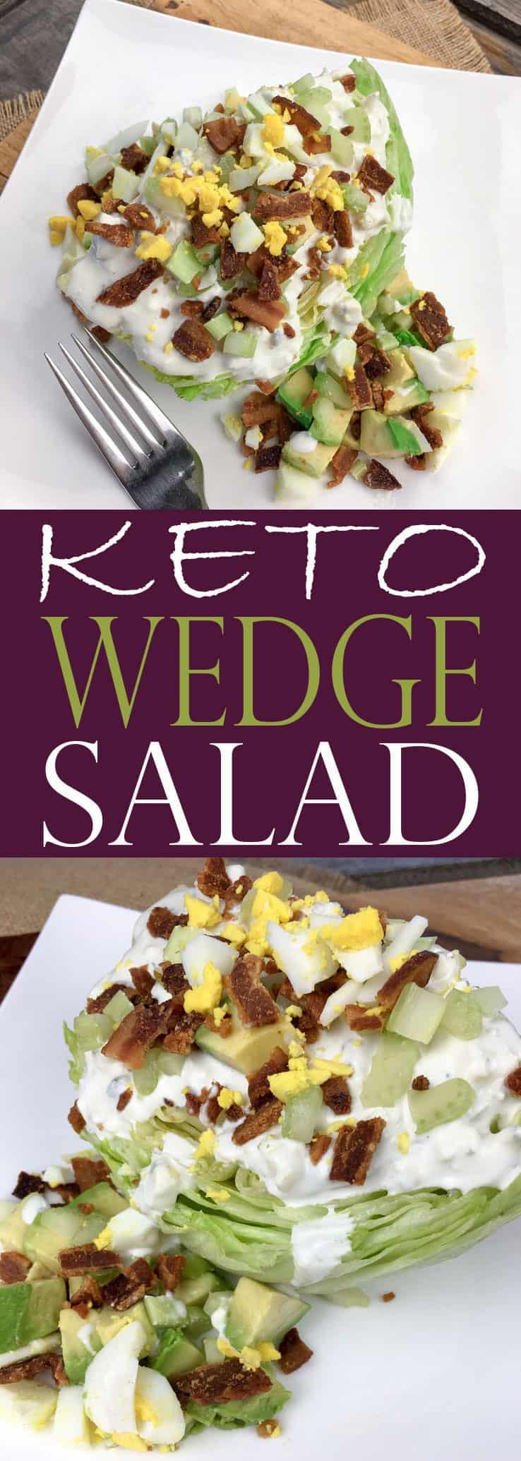 Blue Cheese Dressing Keto Diet  Keto Salad Wedge Salad with Homemade Blue Cheese Dressing