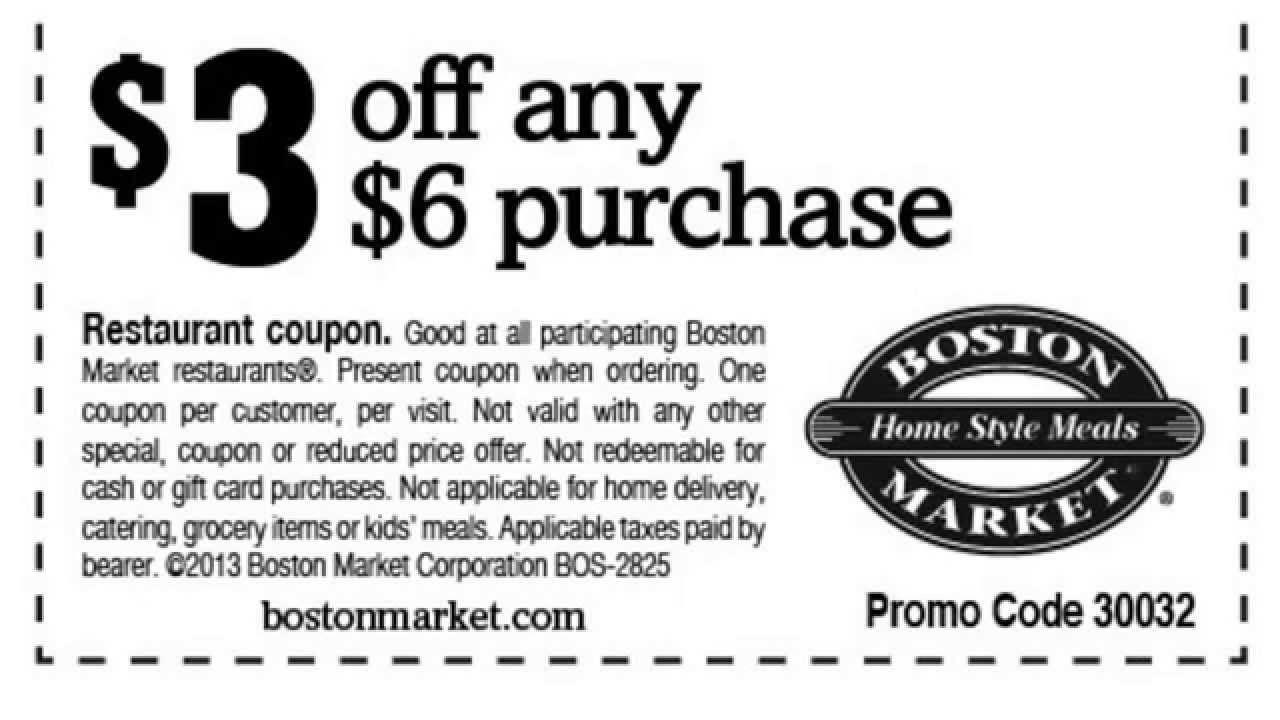 Boston Market Easter Dinner 2019  Boston Market Coupons 2016 Printable