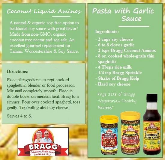 "Bragg Vegetarian Health Recipes  Bragg ""Ve arian Healthy Recipes"" using Coconut Liquid"