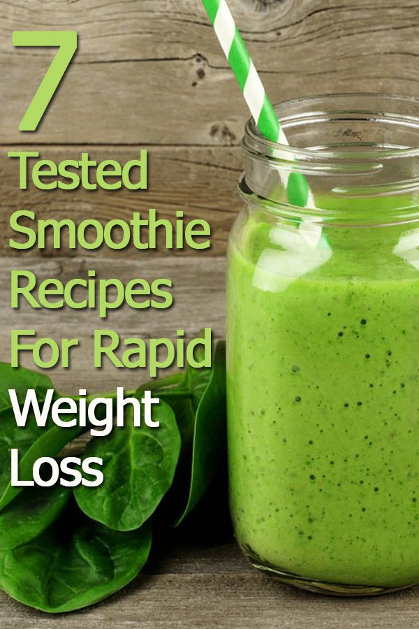 Breakfast Juice Recipes Weight Loss  7 Smoothie Recipes For Rapid Weight Loss