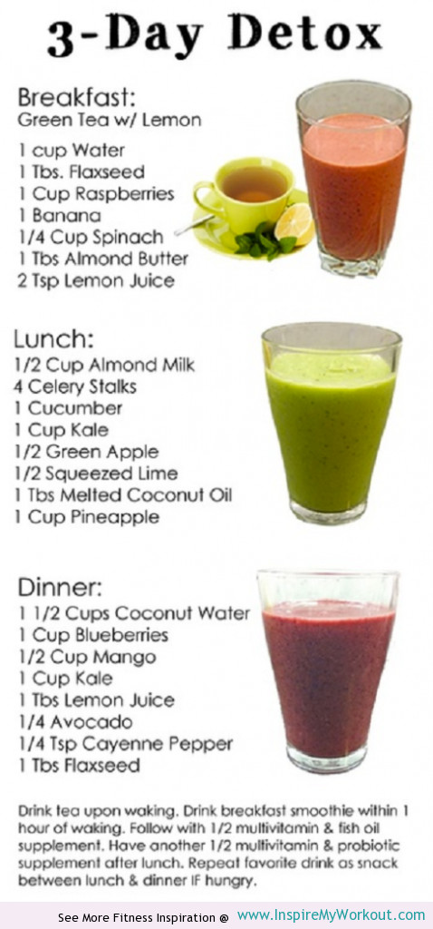 Breakfast Juice Recipes Weight Loss  3 Day Detox Diet