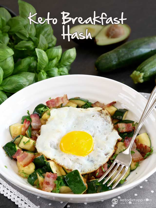 Breakfast Keto Recipes  Keto Zucchini Breakfast Hash