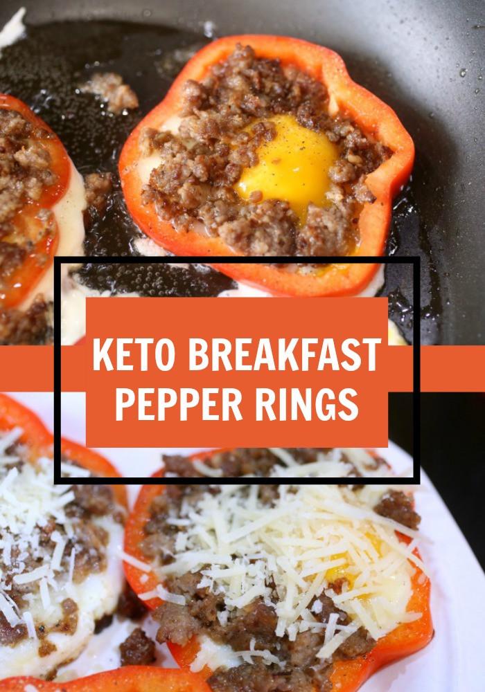 Breakfast Keto Recipes  Keto Breakfast Pepper Rings Recipe • Keto Size Me
