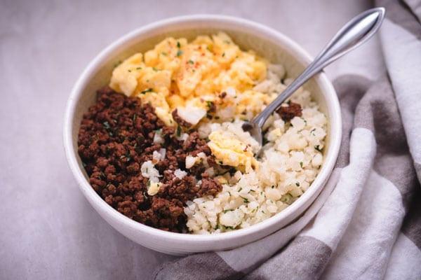 Breakfast Keto Recipes  Low Carb Keto Breakfast Burrito Bowl Recipe [Paleo] KETOGASM
