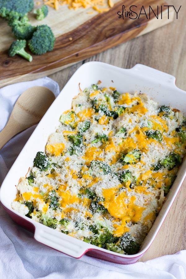 Broccoli Casserole Healthy  Healthy Broccoli Chicken Casserole Slim Sanity