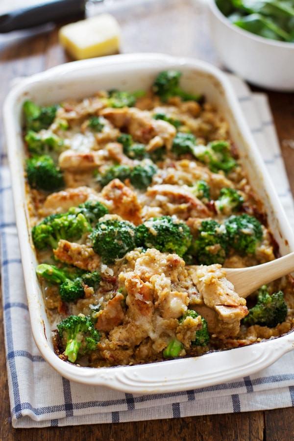 Broccoli Casserole Healthy  Creamy Chicken Quinoa and Broccoli Casserole Recipe
