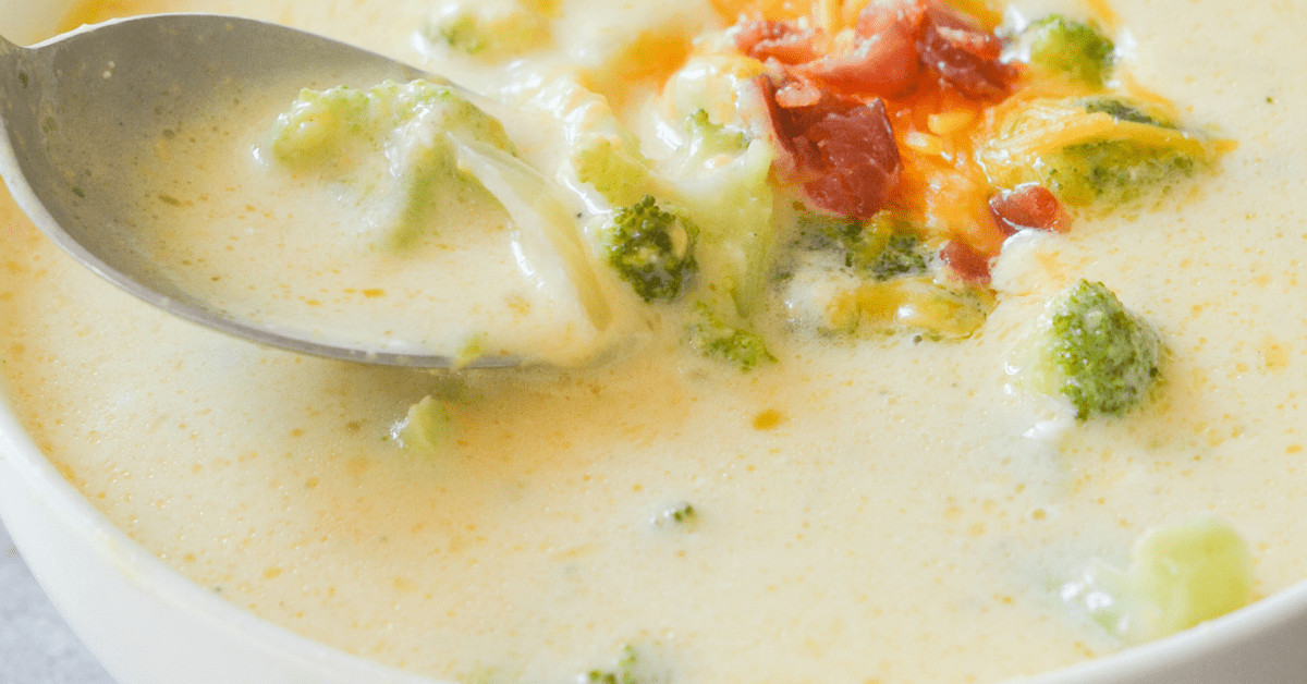 Broccoli Cheddar Soup Keto  Keto Broccoli Cheddar Soup Hey Keto Mama