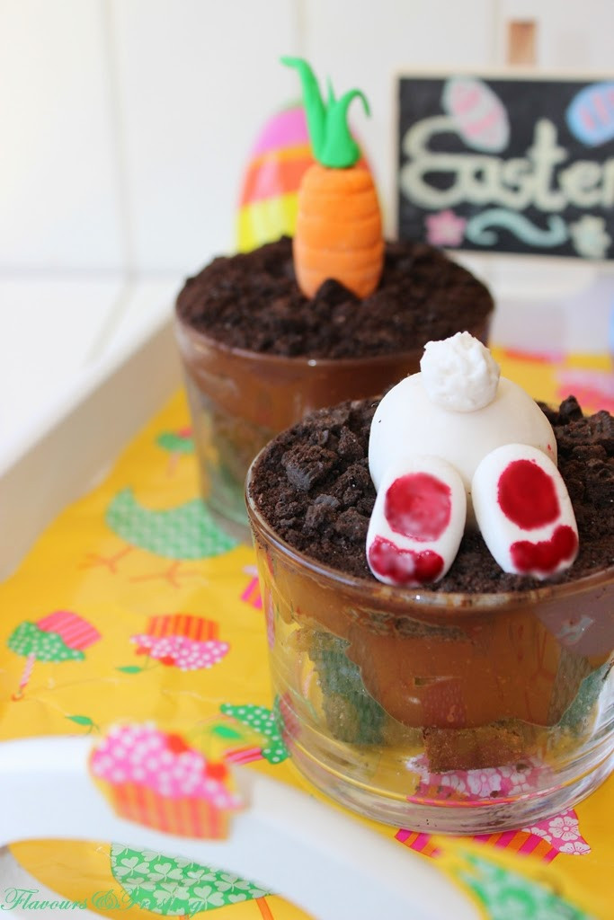 Brownie Easter Desserts  Flavours & Frosting Easter Oreo Brownie dessert pots