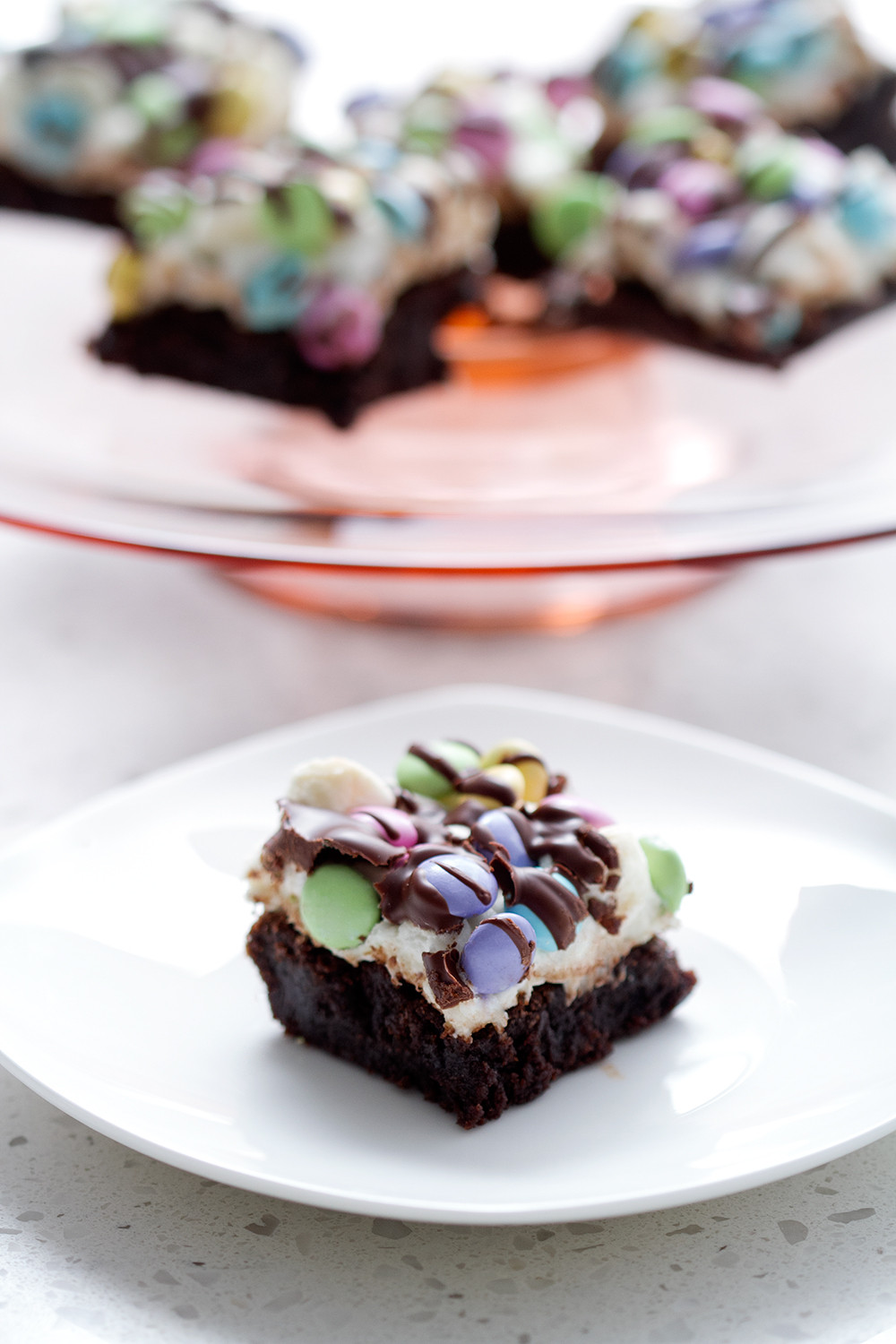 Brownie Easter Desserts  EASTER PASTEL BROWNIE DESSERT RECIPE