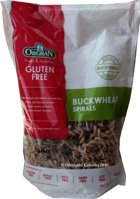 Buckwheat Noodles Gluten Free  Diets and Calories Gluten Free Buckwheat Spirals Pasta Review