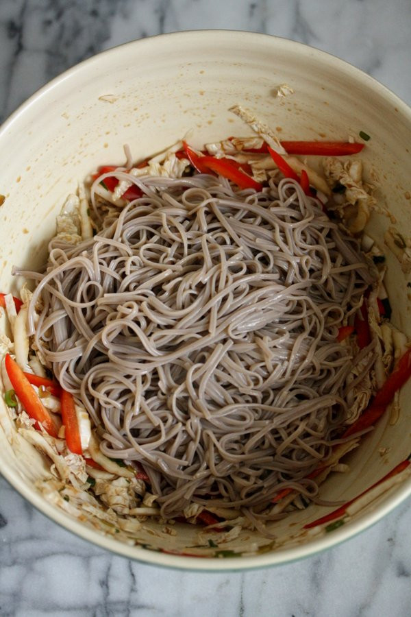 Buckwheat Noodles Gluten Free  Cold Sesame Soba Noodle Salad with Cabbage
