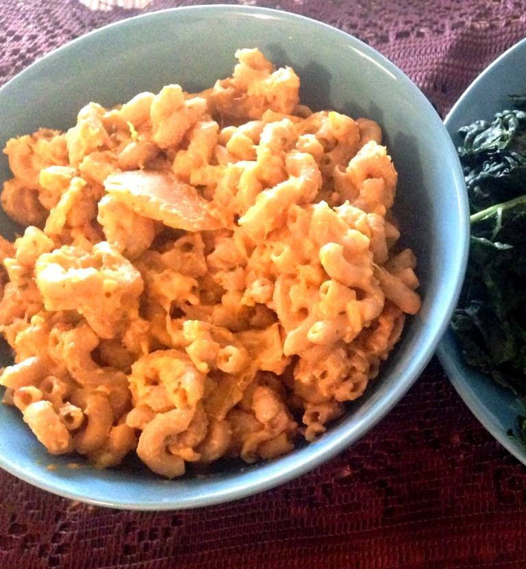 Butternut Squash Mac And Cheese Vegan  Vegan Butternut Squash Mac and Cheese Sauteed Kale