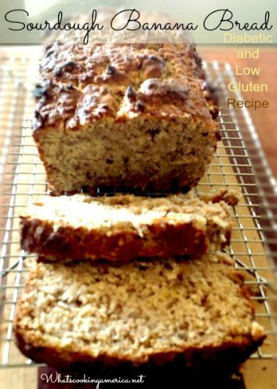 Can Diabetics Eat Sourdough Bread  Sourdough Banana Diabetic Bread Recipe Whats Cooking America