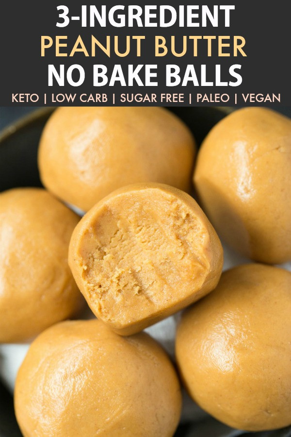 Can You Eat Peanut Butter On A Keto Diet  3 Ingre nt No Bake Keto Peanut Butter Balls Paleo