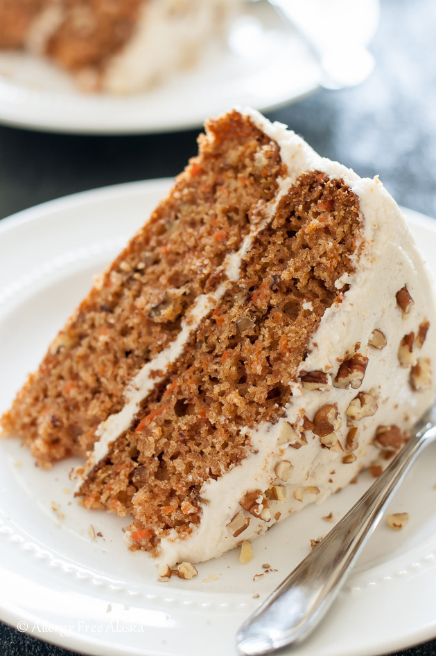 Carrot Cake Recipes Gluten Free  Gluten Free Dairy Free Decadent Carrot Cake Allergy Free