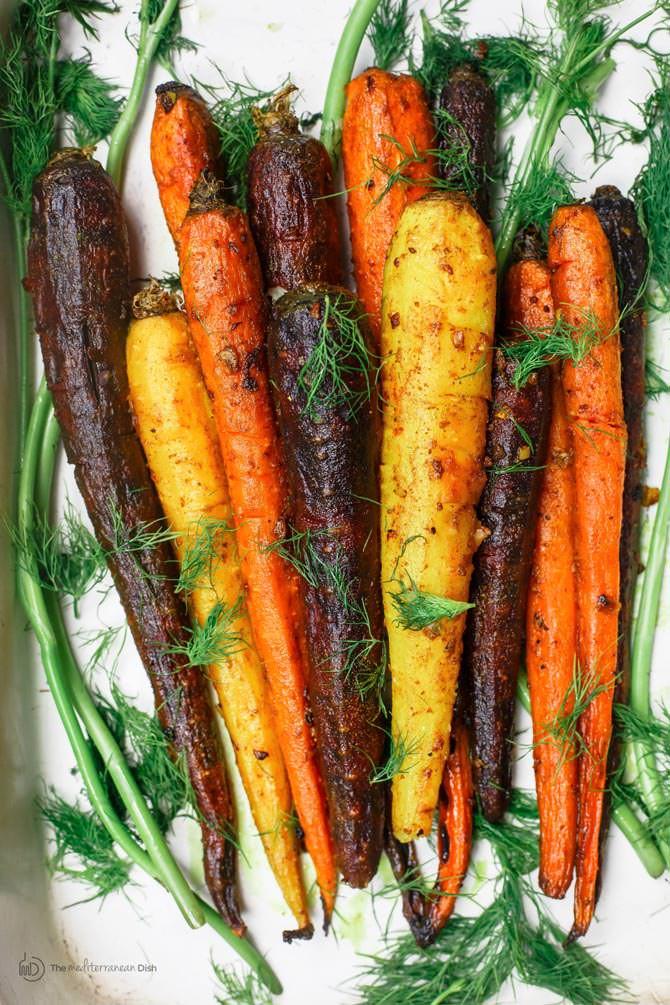 Carrot Recipes Vegetarian  Roasted Carrots Recipe with Turmeric