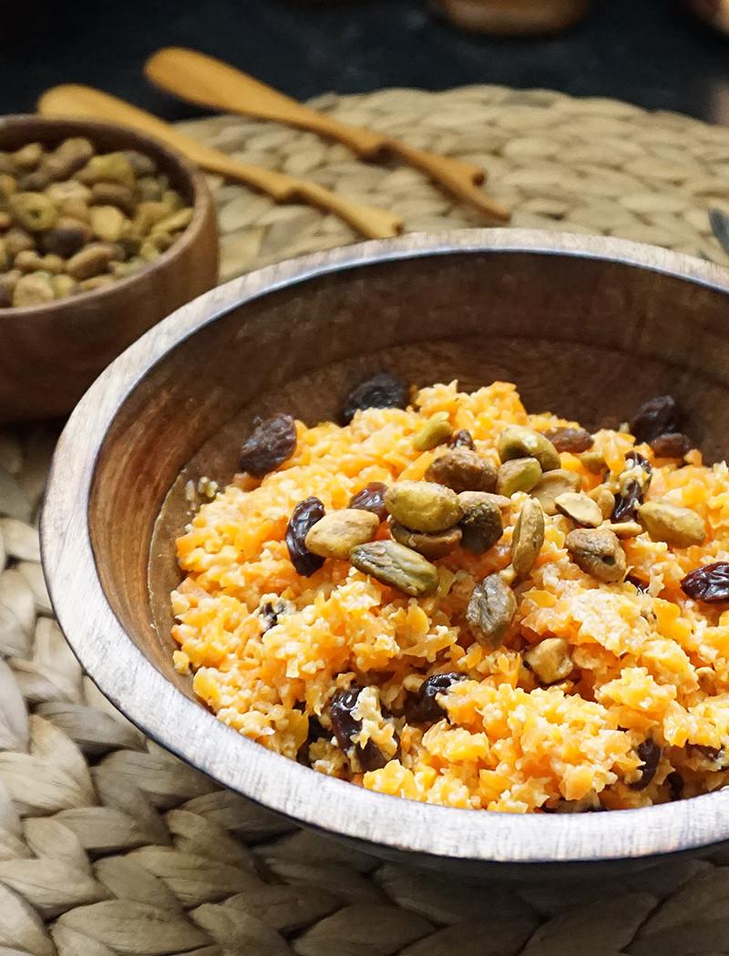 Carrot Recipes Vegetarian  Vegan carrot halwa a classic Indian dessert