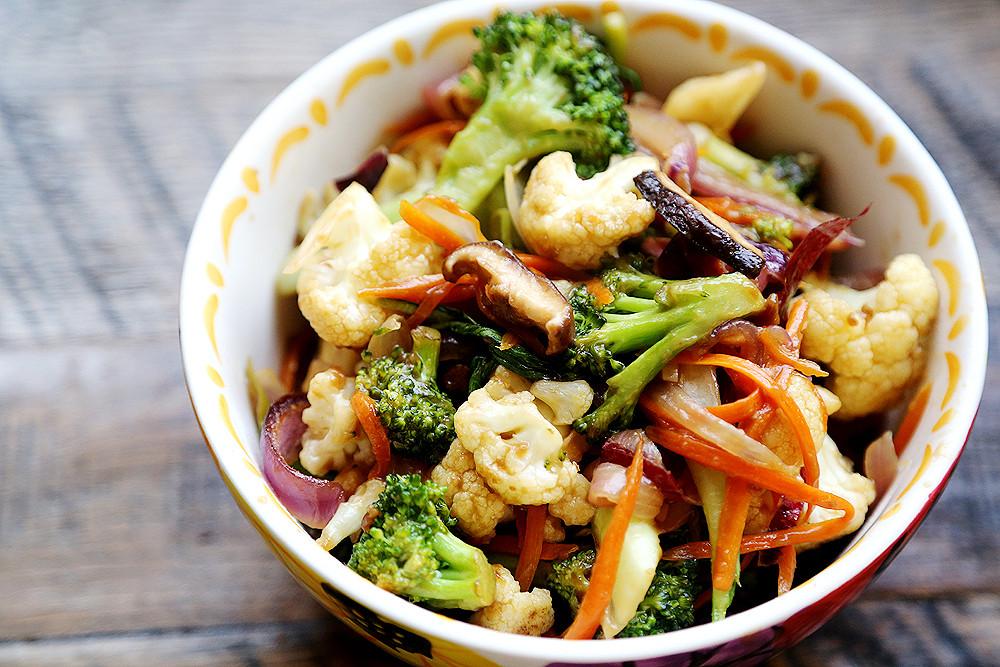 Carrot Recipes Vegetarian  broccoli cauliflower carrots recipe