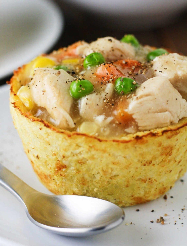 Cauliflower Low Carb Recipes  Low Carb Cauliflower Pot Pies It s Cheat Day Everyday