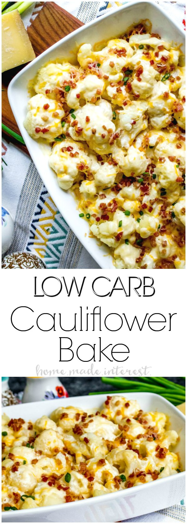 Cauliflower Low Carb Recipes  loaded cauliflower casserole low carb