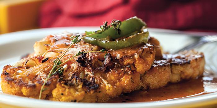 Cauliflower Steaks Vegan  Cauliflower Steak with Miso Rooster Sauce for Valentine s