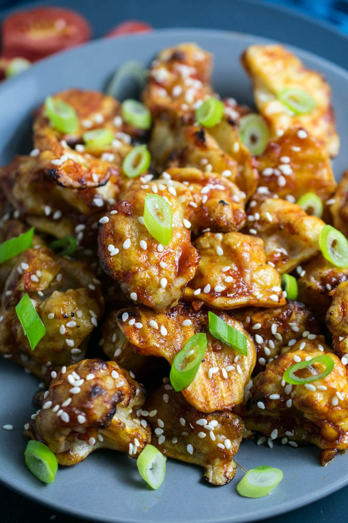 Cauliflower Vegan Recipes  Sticky Sesame Cauliflower Recipe