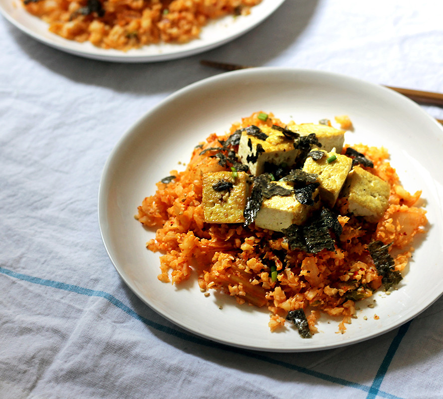 Cauliflower Vegan Recipes  Vegan Korean Recipes Cauliflower Kimchi Fried Rice