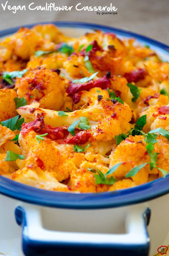 Cauliflower Vegan Recipes  Vegan Cauliflower Casserole Give Recipe