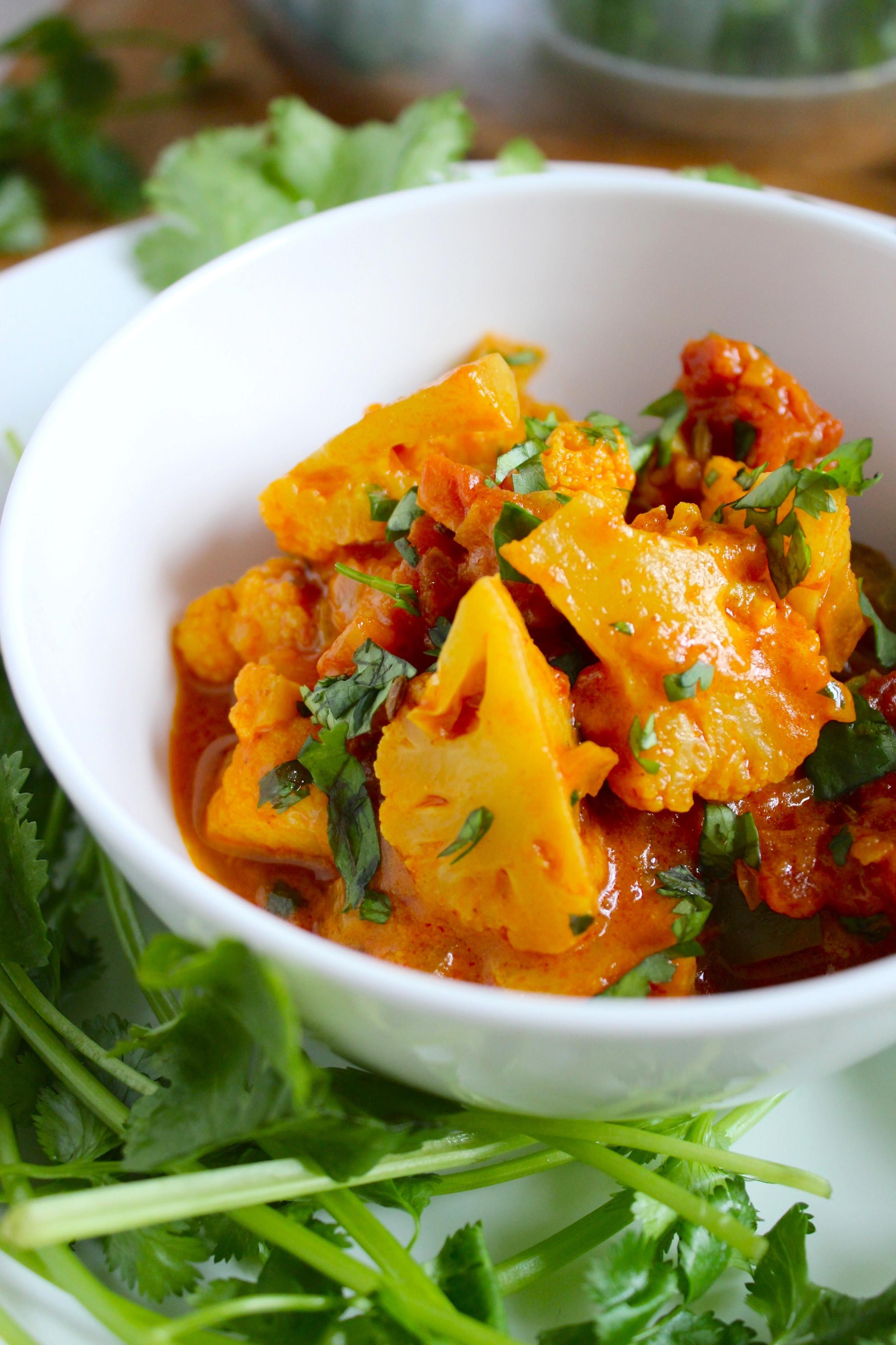 Cauliflower Vegan Recipes  Easy Vegan Cauliflower Curry from The Fitchen
