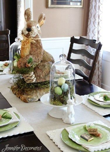 Cheap Easter Dinner Ideas  Easter Table Decorating Ideas Jennifer Decorates
