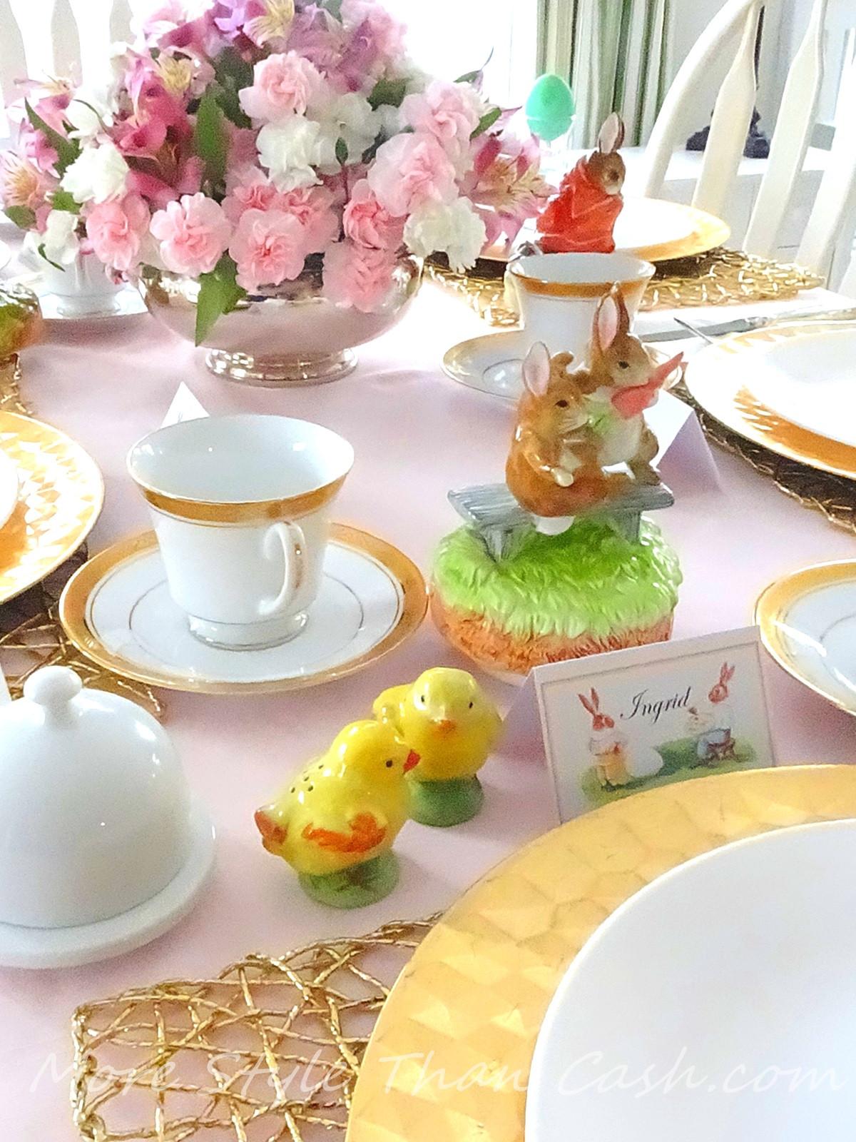 Cheap Easter Dinner Ideas  Easter Table Setting