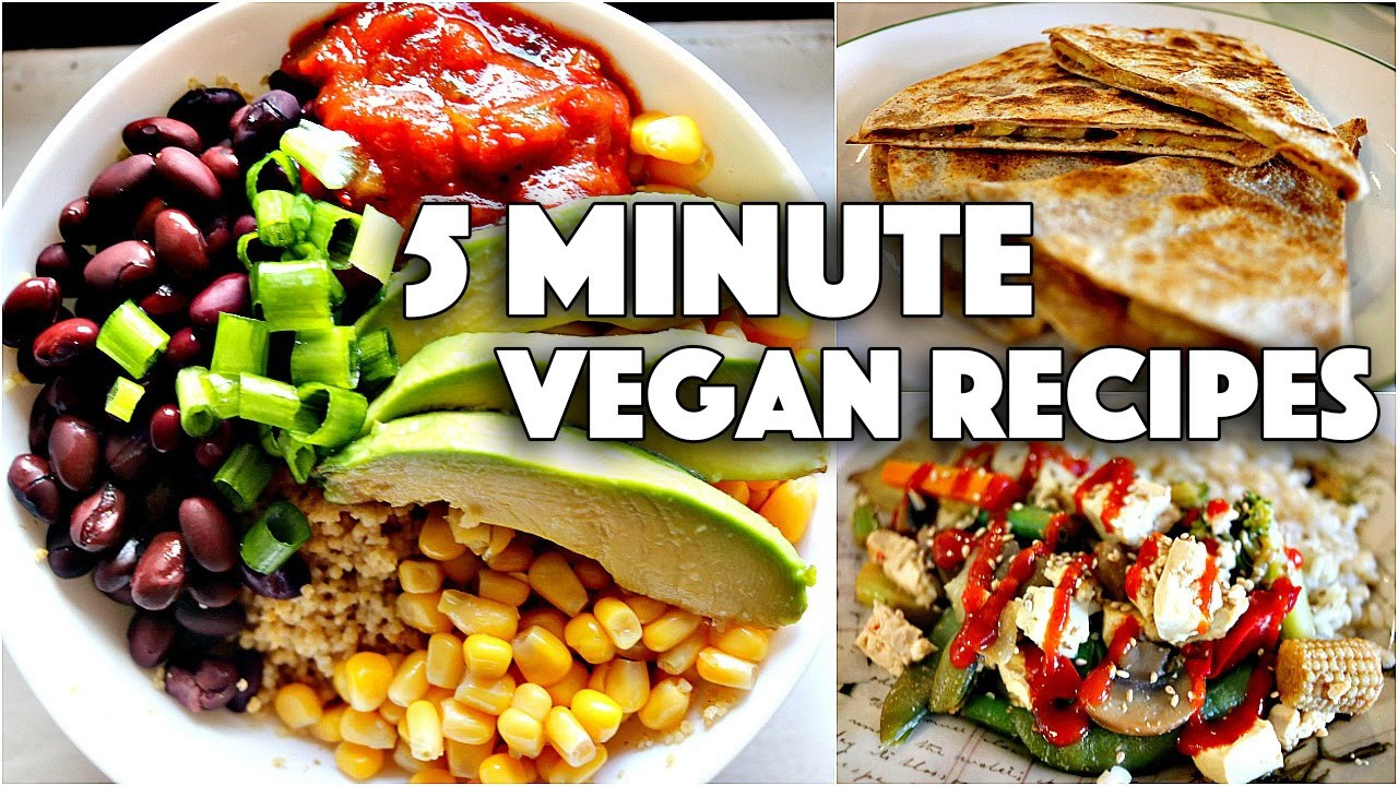 Cheap Vegan Recipes For College Students  EASY VEGAN 5 MINUTE RECIPES FOR COLLEGE STUDENTS