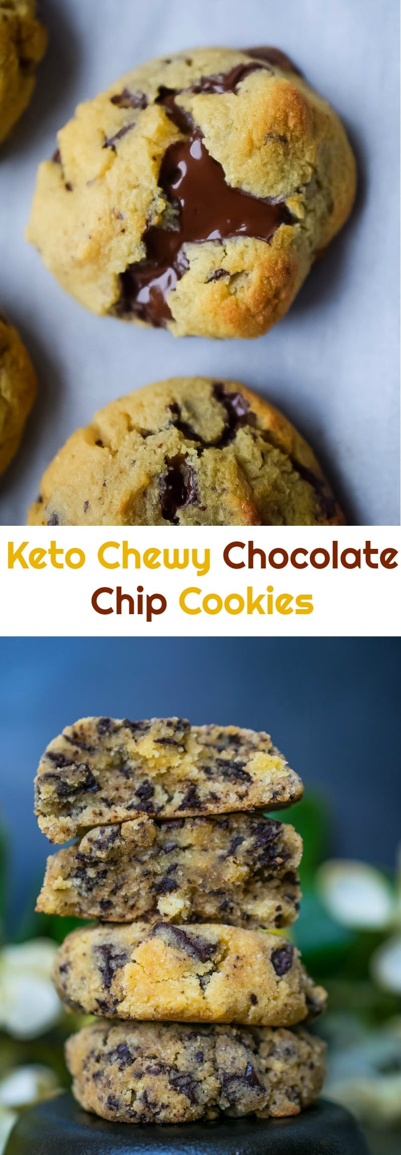 Chewy Keto Chocolate Chip Cookies  Keto Chewy Chocolate Chip Cookies