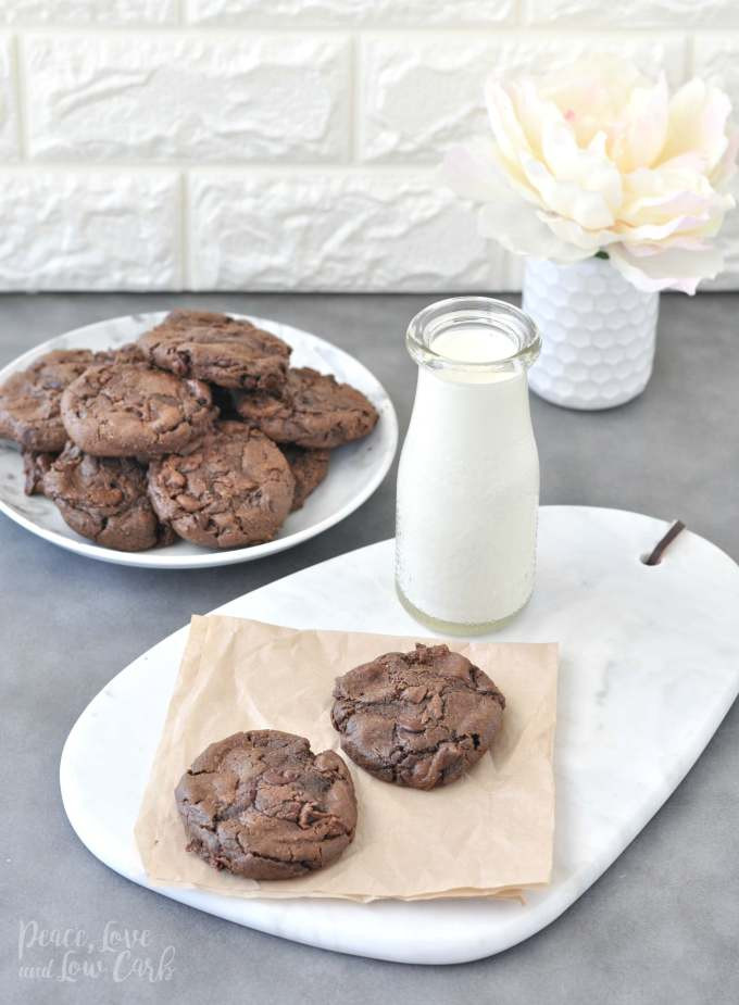 Chewy Keto Chocolate Chip Cookies  Keto Flourless Chewy Double Chocolate Chip Cookies