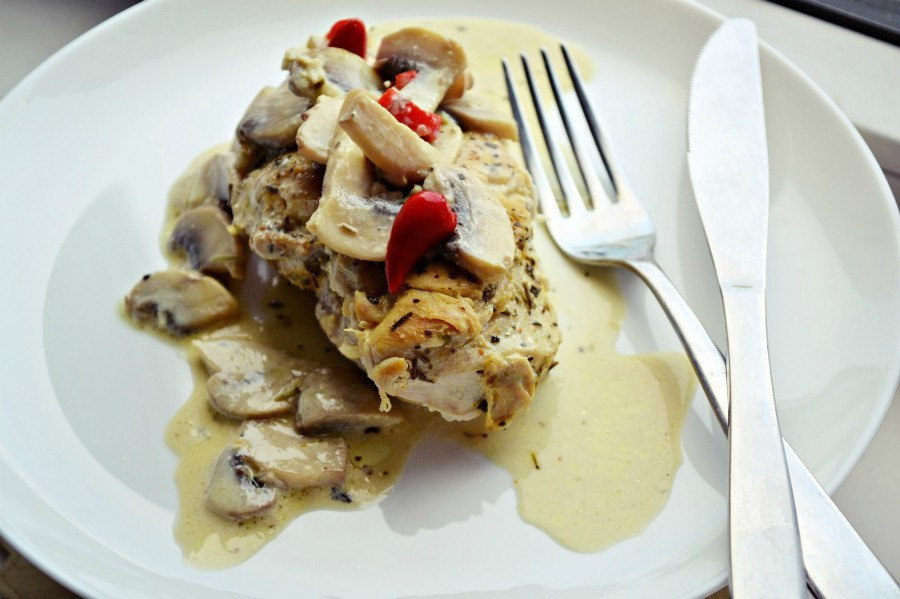 Chicken Breast Low Calorie Recipes  Low calories Chicken breast in mushroom sauce