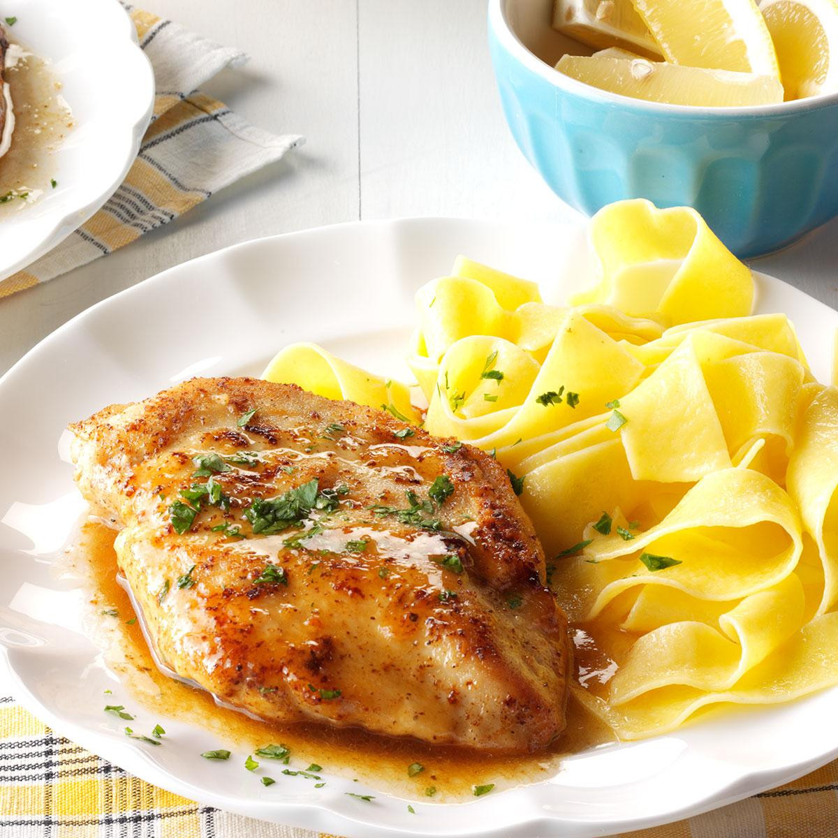 Chicken Breast Recipes Easy Baked Healthy  Quick Chicken Piccata Recipe