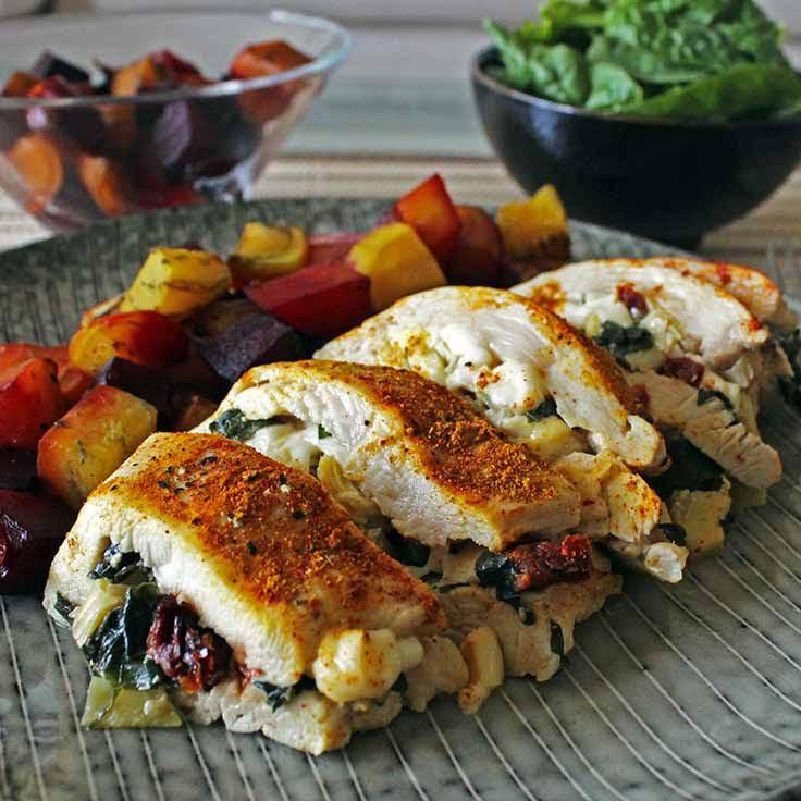 Chicken Low Fat Recipes  10 Best Low Fat Stuffed Chicken Breast Recipes
