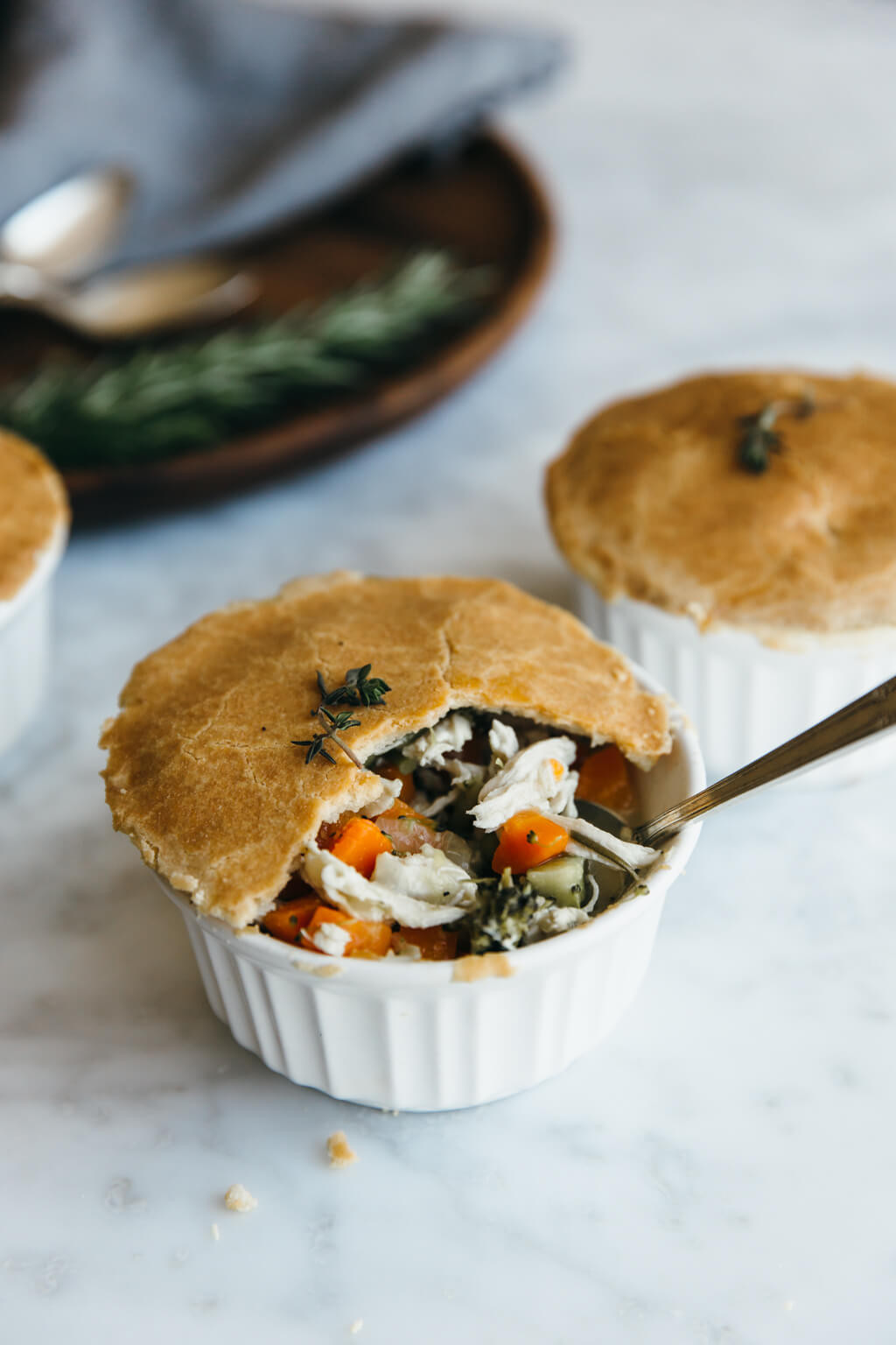 Chicken Pot Pie Dairy Free Mini Chicken Pot Pies gluten free paleo