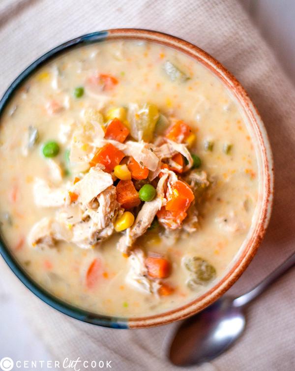 Chicken Pot Pie Recipe Healthy  Slow Cooker Healthy Chicken Pot Pie Stew Recipe