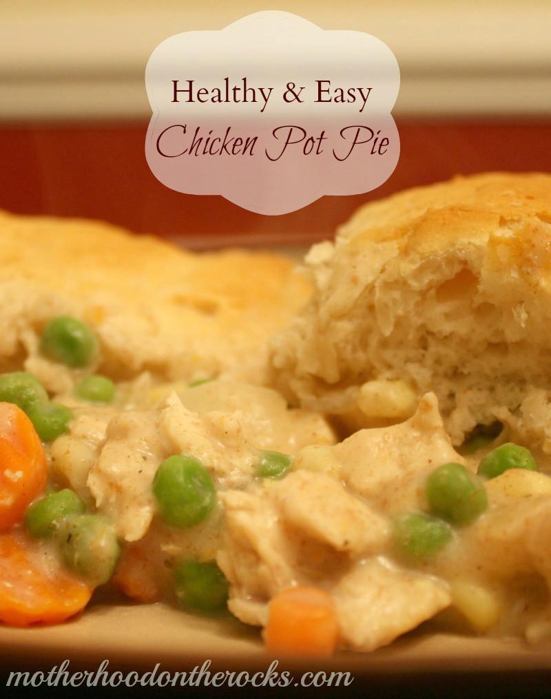 Chicken Pot Pie Recipe Healthy  Healthy & Easy Chicken Pot Pie Recipe Motherhood on the