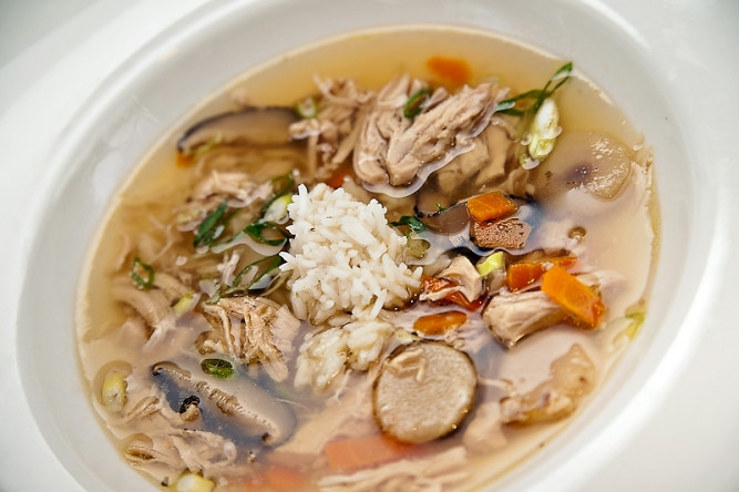 Chicken Soup For Diabetics  Diabetic Recipe Asian Soup with Shredded Chicken and Rice