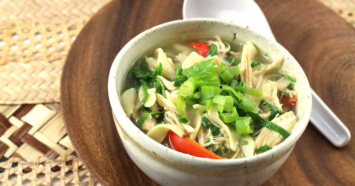 Chicken Soup For Diabetics  Asian Chicken Noodle and Spinach Soup Diabetic Foo