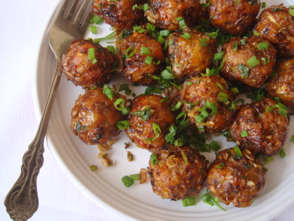 Chinese Recipes Vegetarian  Ve able Manchurian Dry Ve able Manchurian Recipe