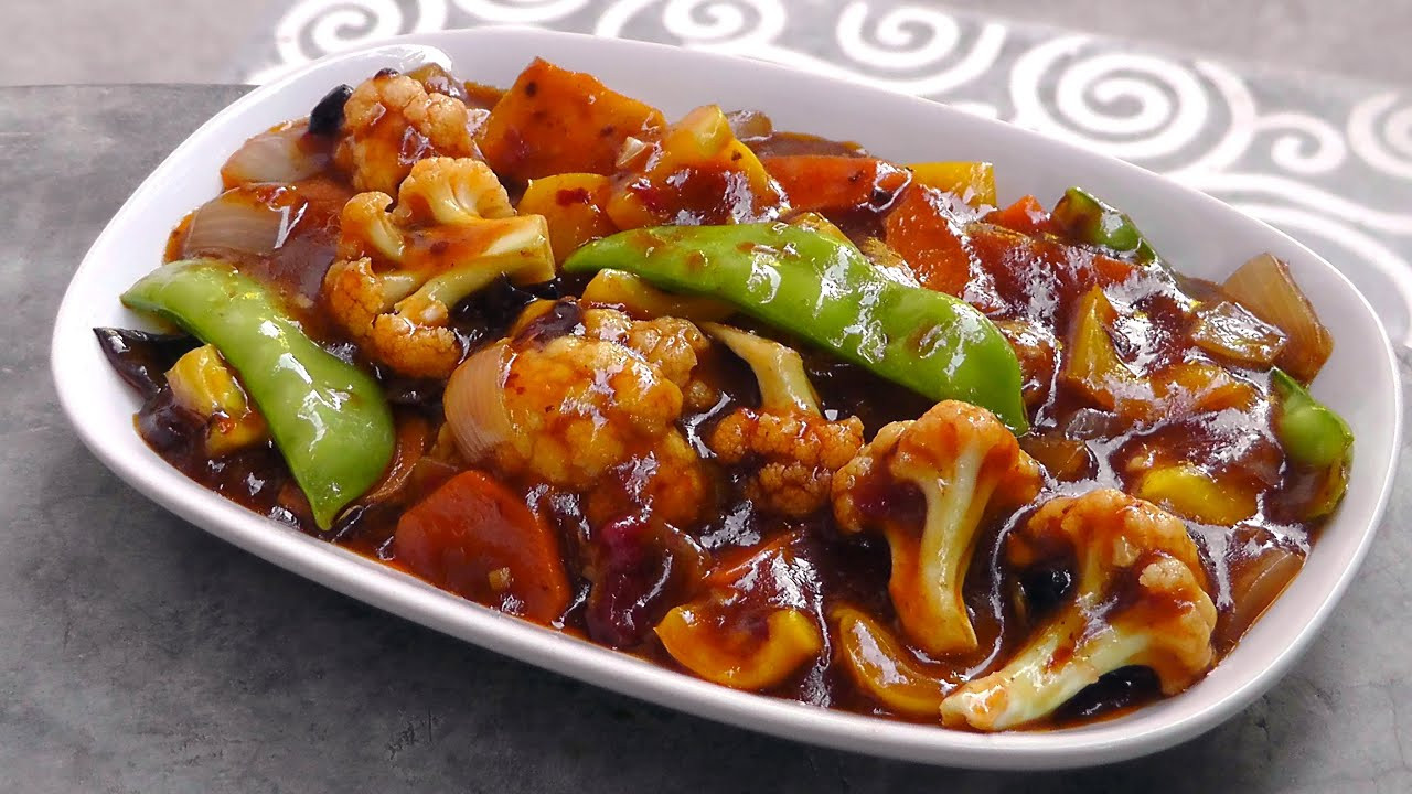 Chinese Recipes Vegetarian  Chinese Ve ables in Szechuan Sauce Vegan Ve arian
