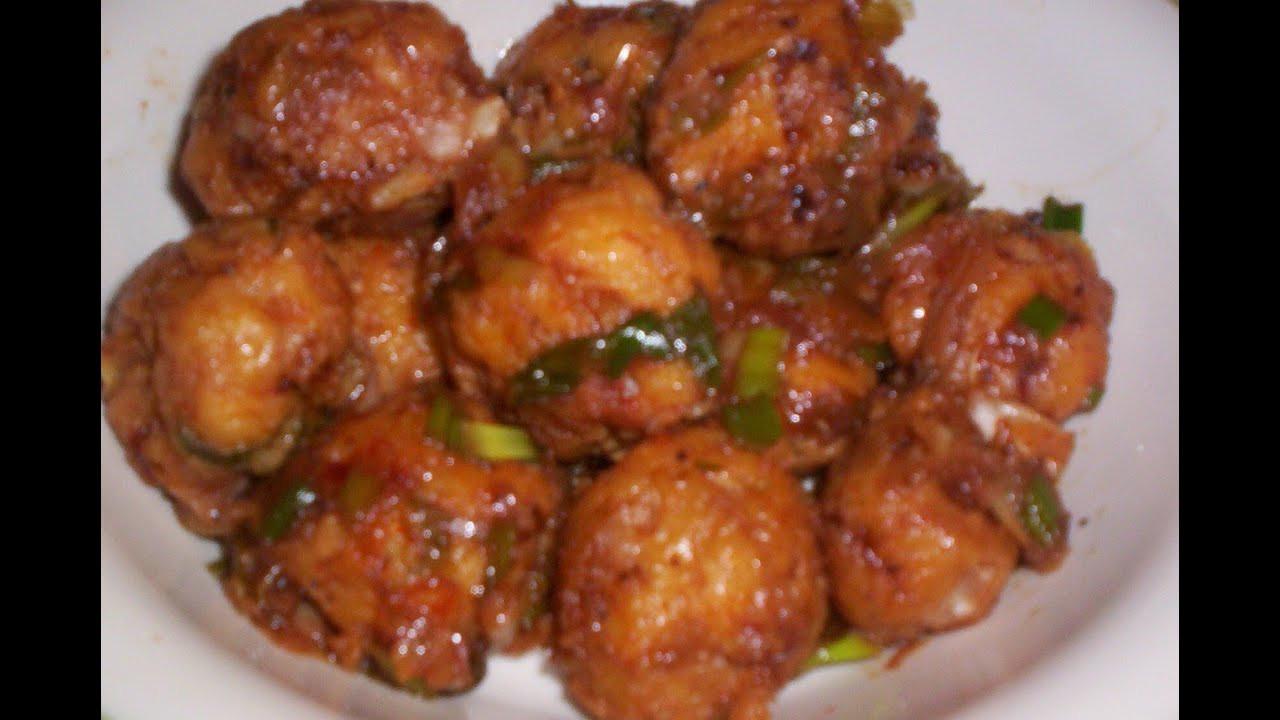 Chinese Recipes Vegetarian  Ve arian Manchurian Recipe Chinese Manchurian Lunch