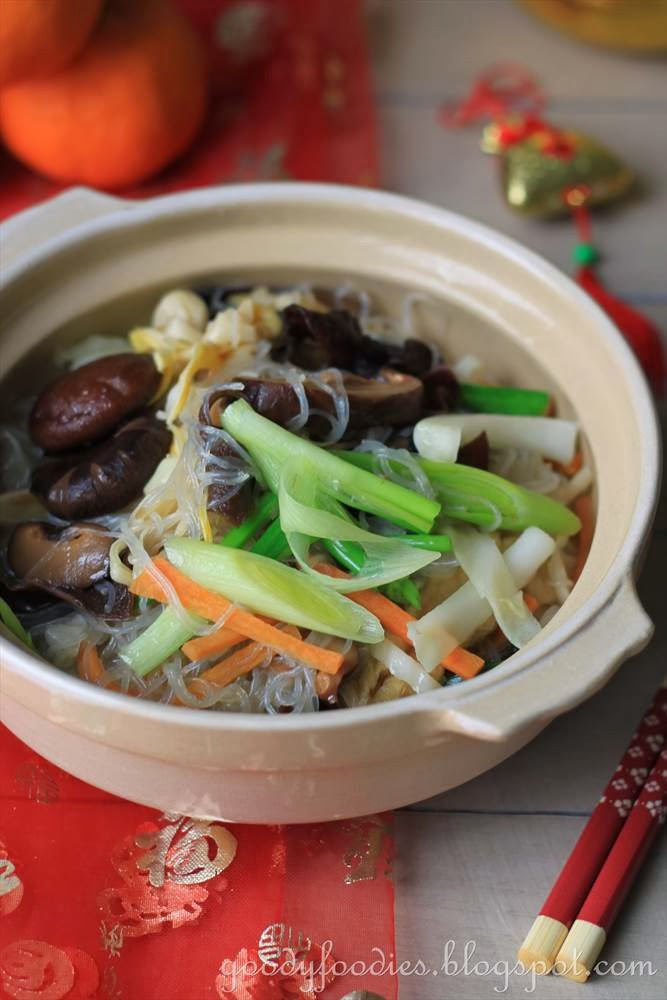 Chinese Recipes Vegetarian  GoodyFoo s Recipe Chinese New Year Ve arian dish Jai 素